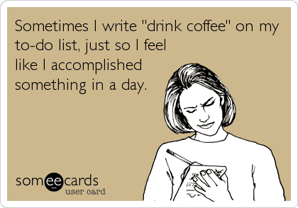 Coffee on to-do-list